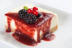 Receita cheesecake com frutas vermelhas (Foto: divulgação)                                                                                                                                                      Mais
