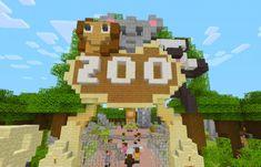 Design a Zoo with Minecraft - 6 weeks (starts June Minecraft Kitchen Ideas, Easy Minecraft Houses, Minecraft Room, Minecraft City, Amazing Minecraft, Minecraft House Designs, Minecraft Decorations, Minecraft Pixel Art, Minecraft Crafts