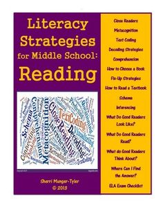Middle Schoolers are still learning HOW to read well and they need grade-appropriate strategies! These anchor charts and student bookmarks are created specifically to teach reading strategies to adolescents! Special attention is paid to close reading, metacognition, and repairing reading when meaning breaks down. Using these in all subject areas will help students transfer their ELA skills to content classes. Teaching Tips, Learning Objectives, and Common Core State Standards all included…