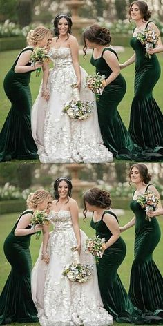 Simple Green Mermaid Spaghetti Straps Long Bridesmaid Dresses,Wedding Party Gowns, · Oktypes · Online Store Powered by Storenvy Printed Bridesmaid Dresses, Mermaid Bridesmaid Dresses, Mermaid Dresses, Bridesmaid Outfit, Vintage Bridesmaid Dresses, Forrest Green Bridesmaid Dresses, Emerald Green Bridesmaid Dresses, Green Bridesmaids, Party Gowns