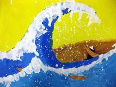 62 Trendy landscape art for kids teaching Third Grade Art, Grade 2, Second Grade, Landscape Art Lessons, Japon Tokyo, Hokusai, Creation Art, School Painting, Ecole Art