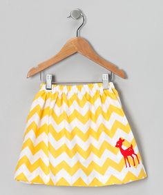 With a colorful chevron pattern, this skirt leaves a trail of sweetness in its tracks. Cozy cotton and an elastic waistband achieve playtime perfection with every wear.100% cottonMachine wash; tumble dryMade in the USA