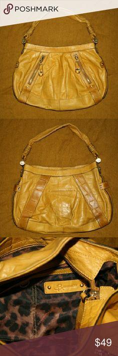 B. Makowsky Handbag Mustard Yellow Handbag.  Some Discoloration on Front and Back (picture 4) B. Makowsky Bags