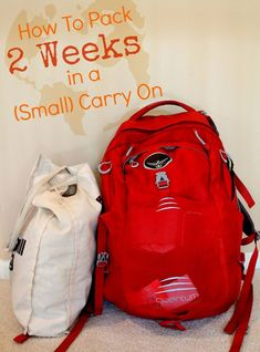 How to Pack 2 Weeks in a (Small) Carry On - How I went from being the girl who brought a huge suitcase on a 1 week trip to the one who traveled 2 weeks in a backpack. #travel #packinglight #backpacking #BackpackTraveling