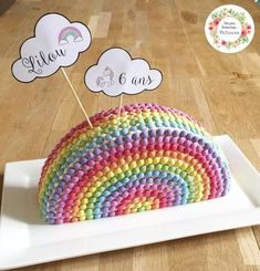 Hello greedy, My daughter loves this cake, every year she asks me to make him for his birthday at school. And every year, it& guaranteed success! Apple Tea Cake, Cinnamon Tea Cake, Lemon Tea Cake, Colorful Birthday Party, Rainbow Birthday, Birthday Cake Girls, Diy Birthday, Chocolate Tea Cake, Cake Name