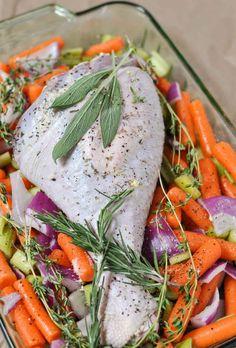 Paleo Herb Roasted Turkey Leg | www.themodernbuttery.com