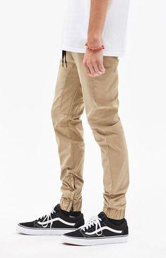 35a6ab90e91b New Mens PacSun Los Angeles Side Leg Zipper Skinny 2.0 Khaki Jogger Pants  Large  PacSun