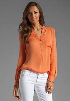 Shop for Haute Hippie Henley Blouse in Tumeric at REVOLVE. Free day shipping and returns, 30 day price match guarantee. Her Style, Cool Style, Teacher Outfits, Teacher Clothes, Hippie Tops, Haute Hippie, Free Clothes, Revolve Clothing, How To Wear