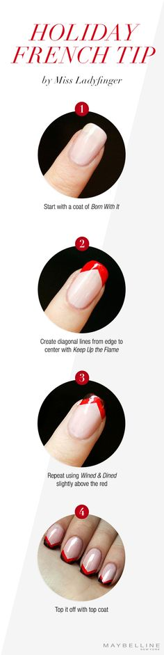 Gift yourself with these Holiday French Tips by @Melissa Henson Ladyfinger