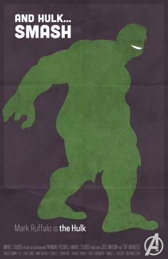 Hulk - The Avengers Poster Series by KC Youm, via Behance