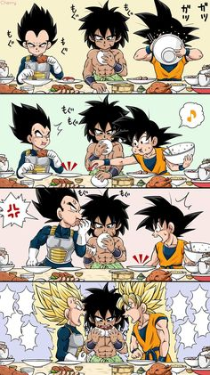Broly, Vegeta & Goku - Dragon Ball Super Movie Broly Anime quotes and memes and sexy anime artwork & drawings of manga and anime art that i find interesting and like to draw for myself as well. Dragon Ball Gt, Dragon Ball Image, Blue Dragon, Goku E Vegeta, Chibi Goku, Broly Movie, Super Movie, Ball Drawing, Super Anime