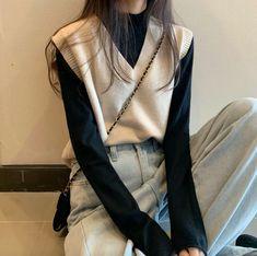 Korean Street Fashion, Asian Fashion, Look Fashion, Autumn Fashion, Fashion Outfits, Womens Fashion, Fashion Tips, Korean Girl Fashion, Classy Fashion