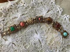 Reinad Gold-tone Bracelet with Glass Stones