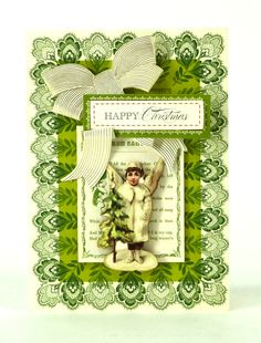 © Anna Griffin, Inc. Holiday Trimmings Card Making Kit--So green