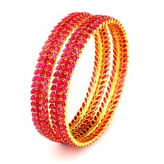 Ruby | South Indian Bridal Ruby Bangles | GRT Jewellers