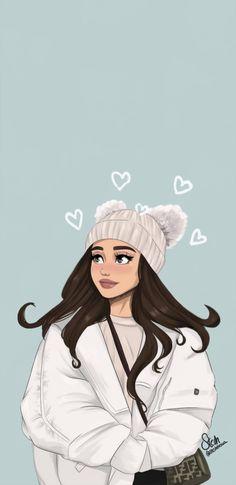 Tumblr Ariana Grande, Ariana Grande Anime, Ariana Grande Quotes, Ariana Grande Perfume, Ariana Grande Drawings, Ariana Grande Wallpaper, Drawing Wallpaper, Emoji Wallpaper, Cute Wallpaper Backgrounds