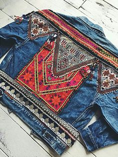 Tribal denim Jacket
