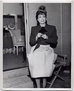 """Joan Crawford on the set of """"Above Suspicion"""""""