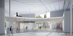 Image 3 of 10 from gallery of UC Davis Selects SO-IL to Design New Art Museum. Image Courtesy of SO-IL Architecture Drawings, Modern Architecture, Museum Of Modern Art, Art Museum, Exhibition Room, Steel Canopy, Drawing Projects, Main Entrance, Design Competitions