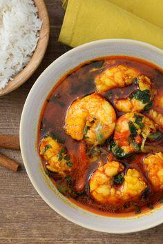 Curry di gamberi: un abbinamento davvero interessante per questo piatto tipico della tradizione indiana.  [Curry shrimps]