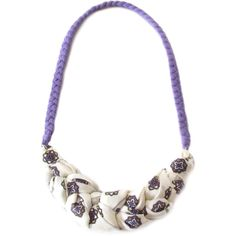 Purple Bib Necklace, Lilac Fabric Necklace, Statement Necklace,... (€22) ❤ liked on Polyvore featuring jewelry, necklaces, summer necklace, purple jewellery, purple bib necklace, wrap necklace and bib necklace