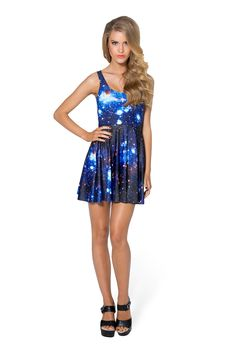 Galaxy Blue Scoop Skater Dress by Black Milk Clothing $85AUD