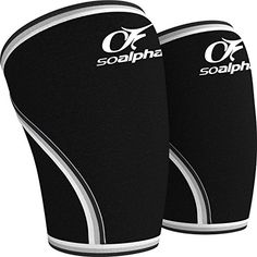 So Alpha Best Compression Knee Sleeves 1 Pair Premium 7mm Neoprene Knee Support Sleeves for the Alpha Male and Alpha Female Great for Weightlifting CrossFit Gym Sports Squats Black XLarge -- Read more reviews of the product by visiting the link on the image.