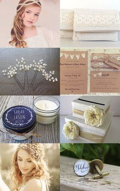 Rustic Lace Weddings by Etsy Wedding Team on Etsy--Pinned with TreasuryPin.com