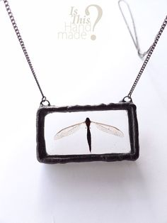 Real flying bug necklace. Dead real dragonfly by IsThisHandmade