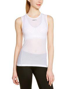 d2fad575c434b Craft Women s Cool Mesh Superlight Singlet Base Layer Sleeveless Shirt -  White - C911NCM6IFL