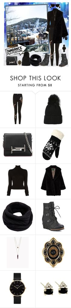 """Feeling Frosty ... Looking Cool"" by krusie ❤ liked on Polyvore featuring Topshop, Tod's, WithChic, BLK DNM, Jean-Paul Gaultier, Helmut Lang, SOREL, Gucci, CLUSE and Tiffany & Co."