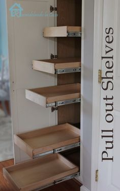 DIY Pull Out Shelves in Pantry | 20 Cheap Home Improvement Ideas You Can Do With A Hammer and Nail
