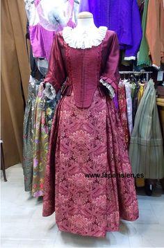 Traje de gala. 1700s Dresses, Fairytale Dress, Vintage Dresses, Costumes, Shirt Dress, Beautiful, Regional, Folk, Fashion