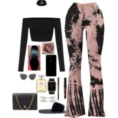 A fashion look from October 2016 featuring Givenchy sandals, Chanel shoulder bags and Chanel earrings. Browse and shop related looks.