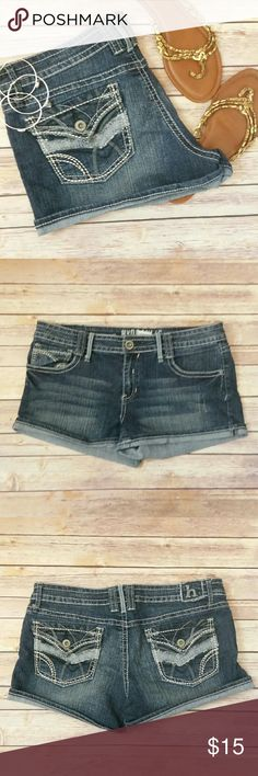 Jean Shorts Hydraulic brand Jean shorts. Buttoned back pockets.  Worn only once and in great condition.  Fabric has some stretch to it. Size 15/16. Hydraulic Shorts Jean Shorts