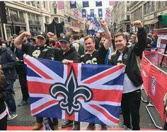 New Orleans Saints Fans in London. #Whodat #GeauxSaints