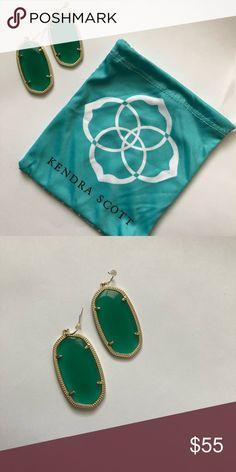 Kendra Scott Green Danielle Earrings. Worn once. Comes with Kendra Scott dust bag. Perfect for St. Patrick's Day.💚 Kendra Scott Jewelry Earrings