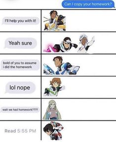 How The Characters of Voltron Would Respond<<< all agreed except Shiro would help Form Voltron, Voltron Ships, Voltron Klance, Voltron Cosplay, Voltron Fanart, Voltron Comics, Voltron Memes, Geeks, Allura