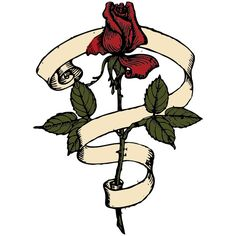 Rose Scroll clip art ❤ liked on Polyvore featuring flowers, random and filler