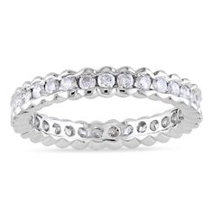 Miadora Signature Collection 14k Gold 1ct TDW Diamond Certified Eternity Ring