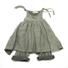 ODIL overall with connected apron light grey
