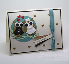 Bride and Groom Owl Wedding Shower Card