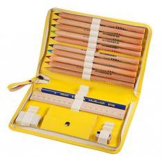 Schulmäppchen Leder gelb aruzzi taugo®