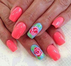 #Summernails  ♡ these colors