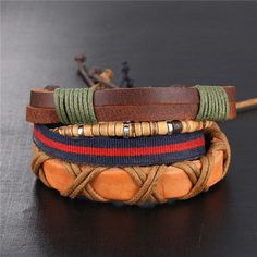 New Hand Made Multi-layer Leather Bracelet