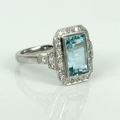 Antique Aquamarine Rings Uk - Pin Aquamarine And Diamond Necklace Justin Richardson Necklaces on ...