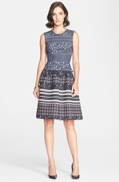 St. John Collection Medallion Floral Fil Coupé Dress available at #Nordstrom