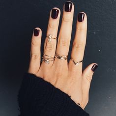 dark nails #manicure