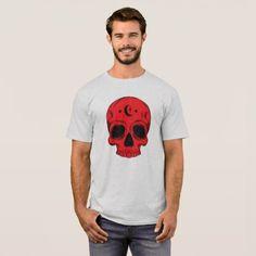 Classic Skull Design T-Shirt - Halloween happyhalloween festival party holiday