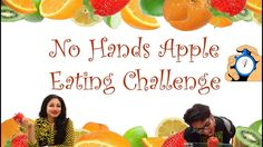 No Hands Apple Eating Challenge: Kitty Party Game